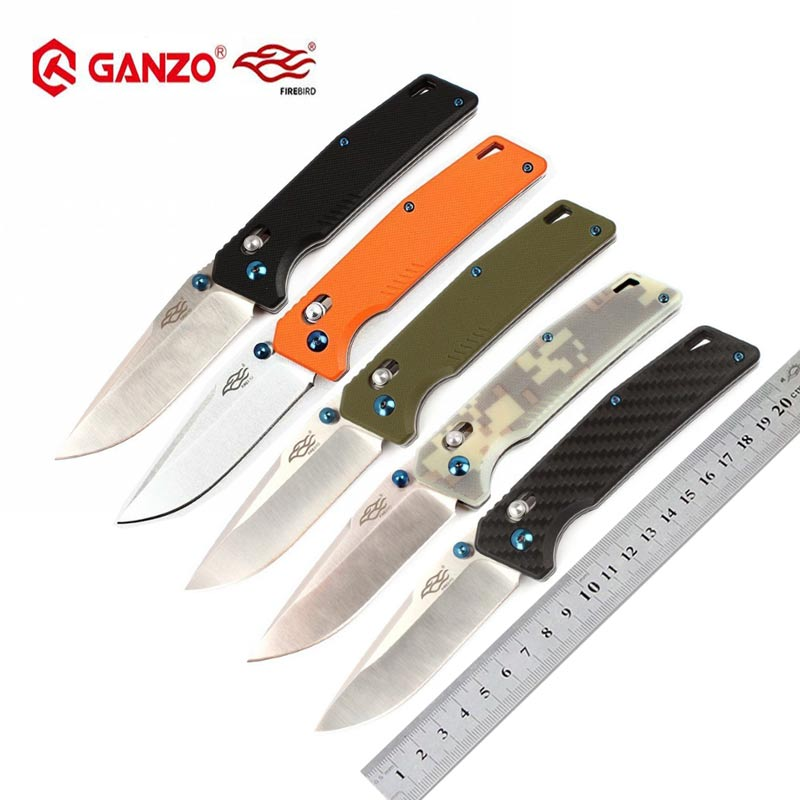 58-60HRC Ganzo FB7601 440C G10 or Carbon Fiber Handle Folding knife Survival Camping tool Pocket Knife tactical edc outdoor tool