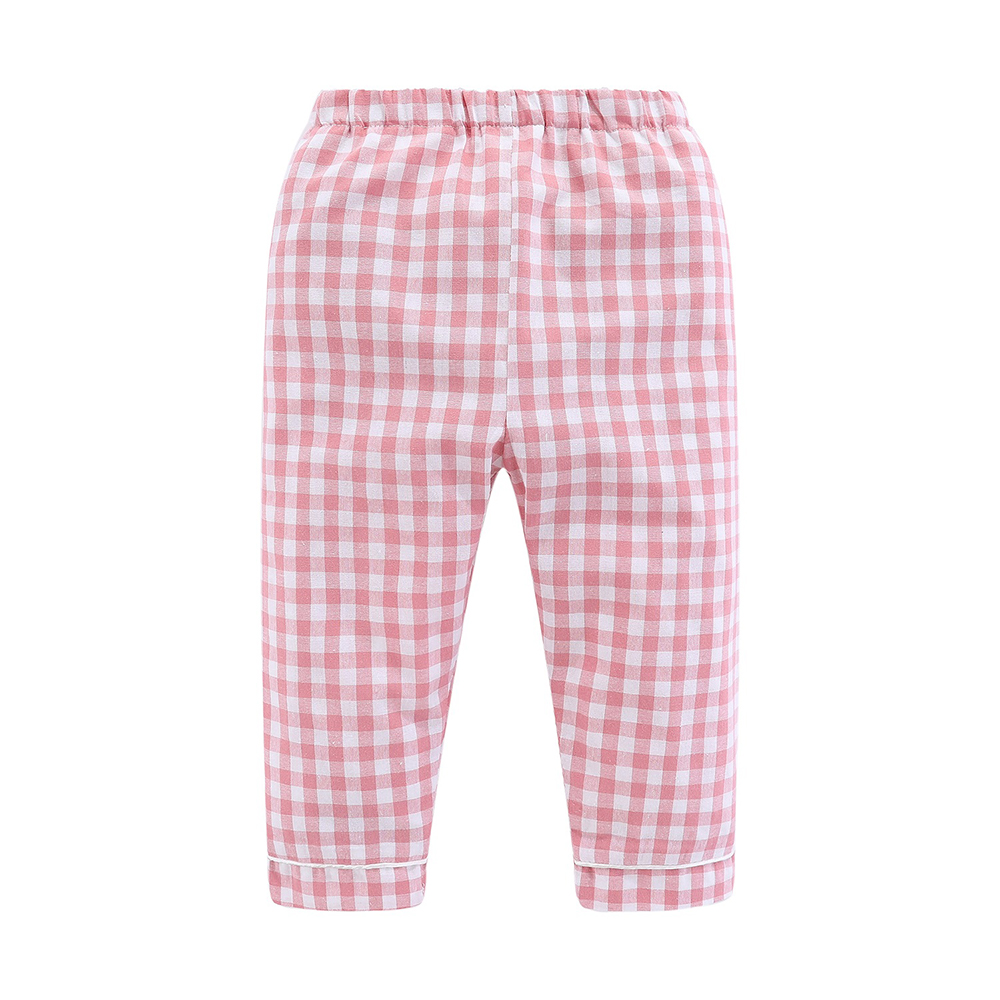 Mudkingdom Boys Girls Long Sleeve Pajamas Set Collared Plaid Autumn Cute Toddler Pajama Kids Sleepwear Children Clothes 6