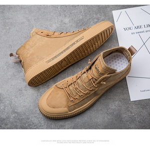 Image 5 - TaoBo High top Casual Shoes for Men Khaki Outdoor Sport Sneaker for Male Size 39 44 Light Weight Anti Slippery Shoes