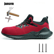 Breathable Work Shoes Men's Anti-smashing And Anti-piercing Steel Head Wear-resistant Non-slip Safety Shoes Militar Seguridad