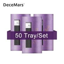 DeceMars 50 cases /lot J B C D 속눈썹 용 속눈썹 연장 밍크 속눈썹 소프트 내츄럴 래쉬