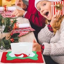 Креативные рождественские бумажные полотенца для конфет, наборы, чехлы для ресторана, дома, праздника, вечеринки, бумажные сумки, держатели, мешочек, украшения