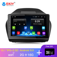 EKIY 10.1'' IPS Car Radio Multimedia No 2 Din Android Video Player Navigation GPS For Hyundai Ix35 1 2 LM Tucson 2 2015 2017