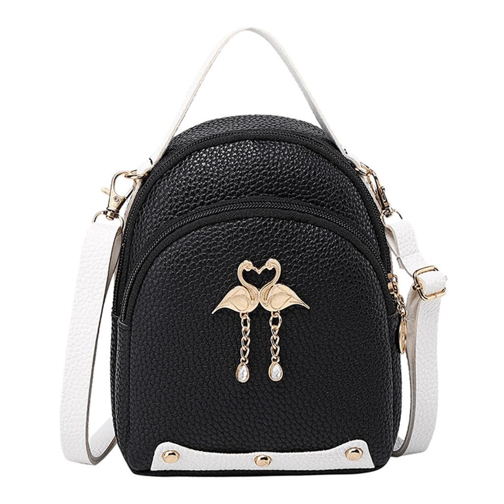Fashion Women's  Solid Color Leather Little Swan Backpack Shoulder Bag  Mini Backpacks For Girls Small Backpack Women#35