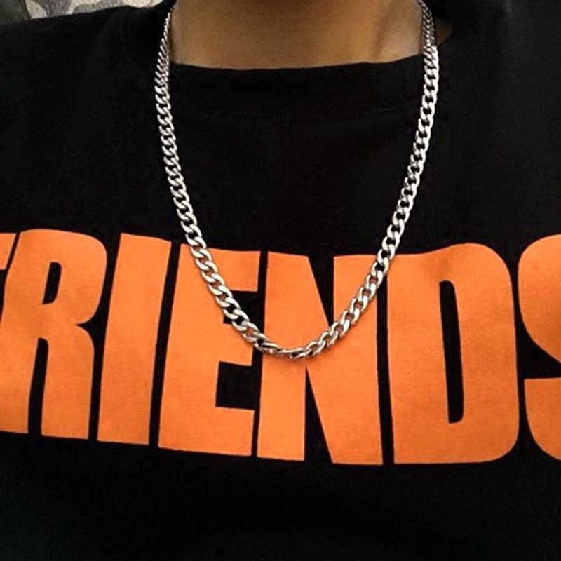 Hip hop 4 มม./5 มม./7 มม. สร้อยคอ Cuban Chain กันน้ำ Link Curb chain ของขวัญเครื่องประดับความยาวที่กำหนดเอง