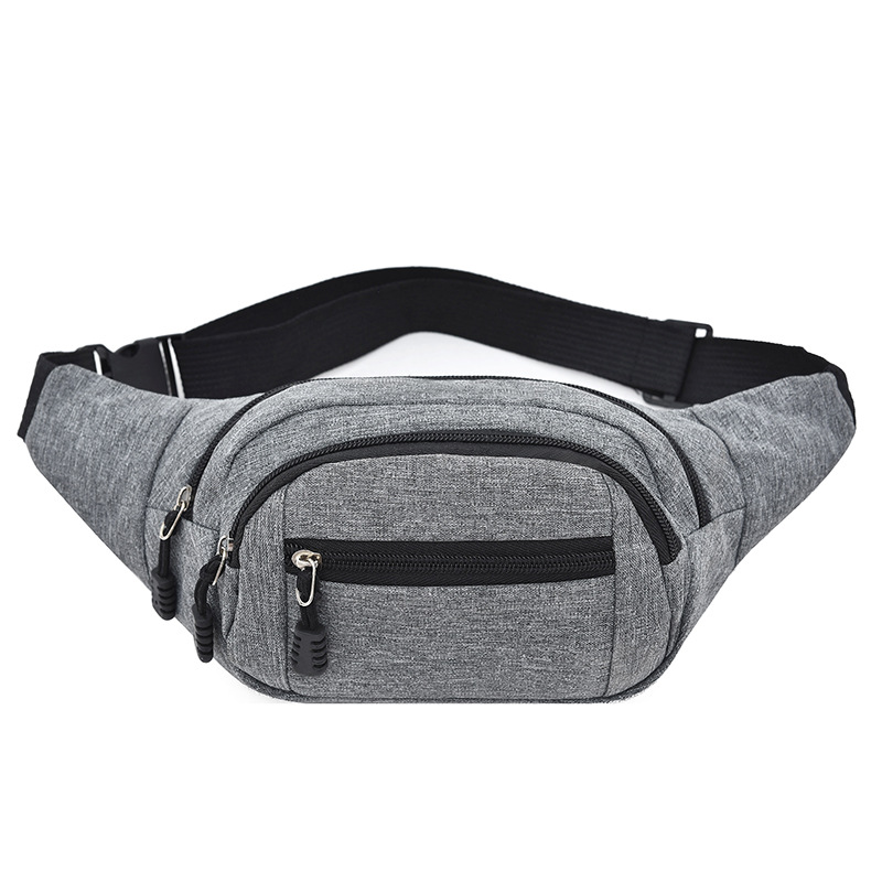 2019 Canvas Oxford Cloth Waist Bag Sports Practical Men And Women Multi-functional Waist Travelers Riding Waist Pack Cross Borde