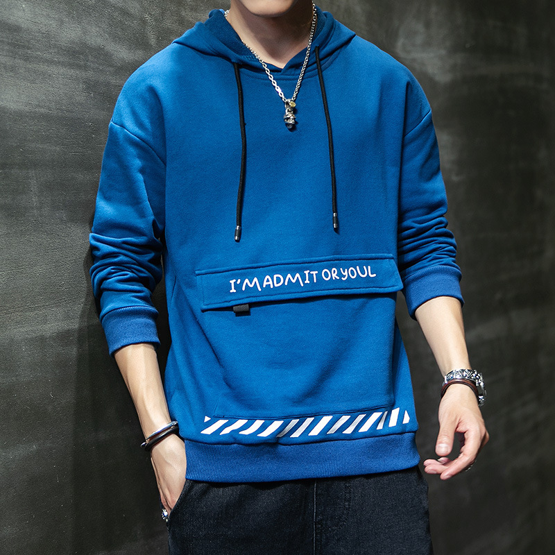 Hooded Long-sleeved Sweater Men Printed Europe and America Large Size Spring and Autumn Pullover Fashion Hoodie Casual Trend Men 2