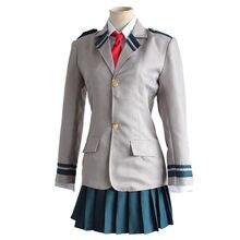 Meu herói acadêmico ochaco uraraka midoriya izuku cosplay traje asui yaoyorozu momo escola uniforme