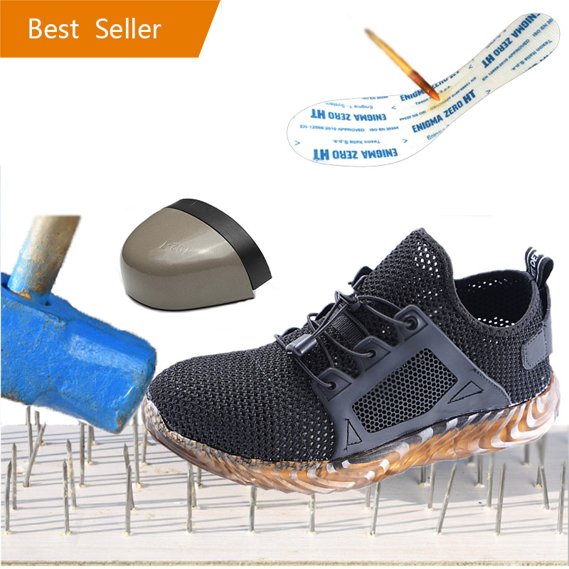 ODBL Steel Toe Indestructible Ryder Shoes Men And Women Steel Toe Air Safety Boots Puncture-Proof Work Sneakers Breathable Shoes