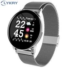 LYKRY montre intelligente hommes femmes pression artérielle activité Sport bracelet Fitness Tracker sang oxygène moniteur smartwatch pour Android