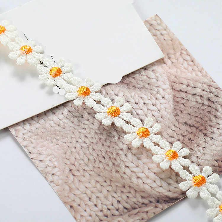 韓国語バージョン新鮮なコントラストカラーのデイジーのレースのハンドメイドウィービング甘い花シンプルな気質のネックレスジュエリー