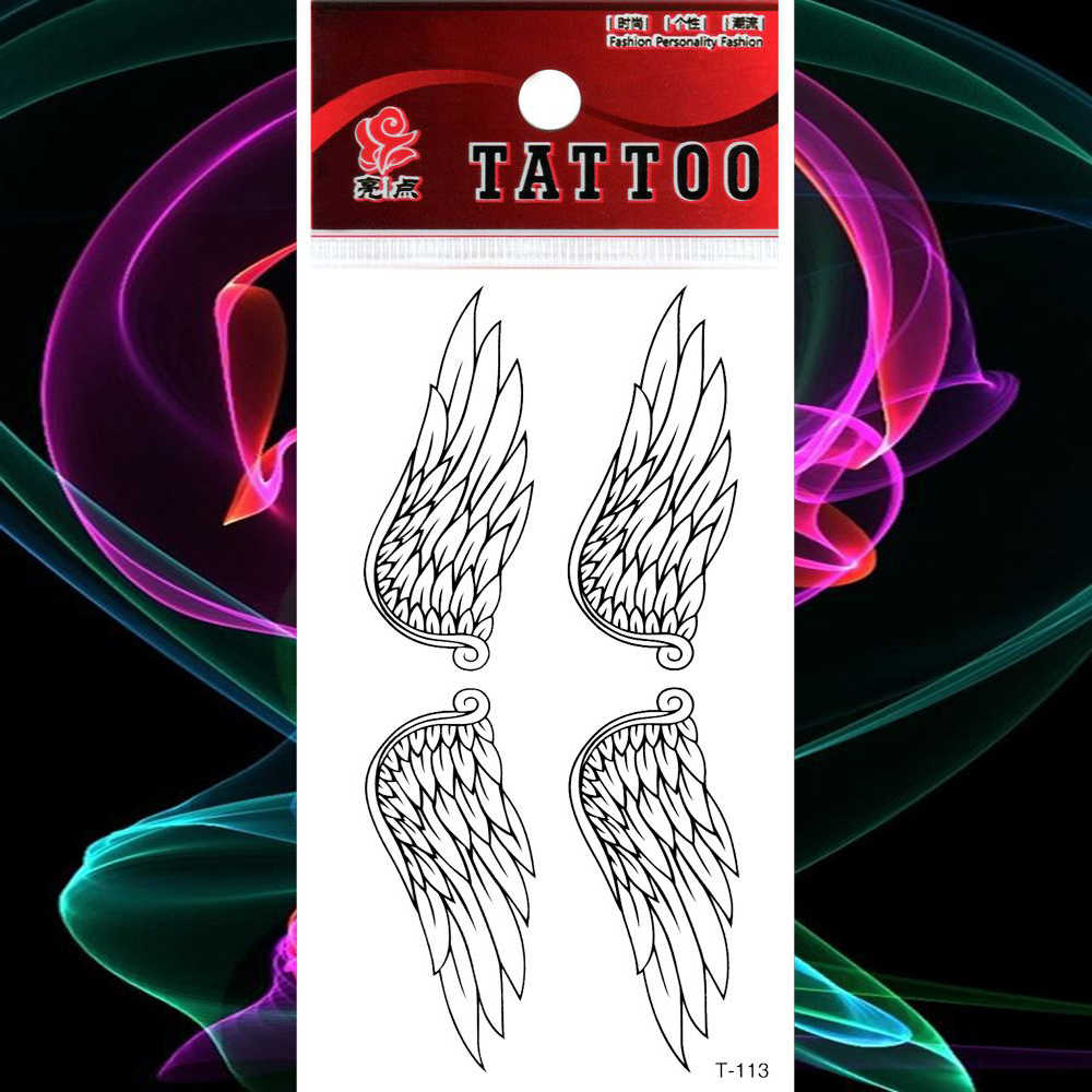 Waterproof Tattoo Angel Wings Tattoos Stickers Fake Tatto Women Men Girl Boy Body Chest Arm Hand Back Art Flash Tatoo Tatouage