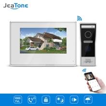 цена на 7 inch White Color Touch Screen Villa WIFI IP Video Door Phone Intercom doorbell entry door phone door access control system