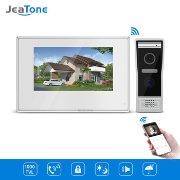 7 inch White Color Touch Screen Villa WIFI IP Video Door Phone Intercom doorbell entry door phone door access control system цена 2017