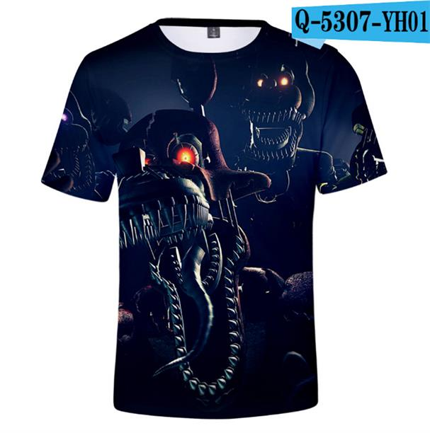 Tshirt Children FNAF Girls Kids Five-Night Short-Sleeve Freddy-Printed At 3D Anime