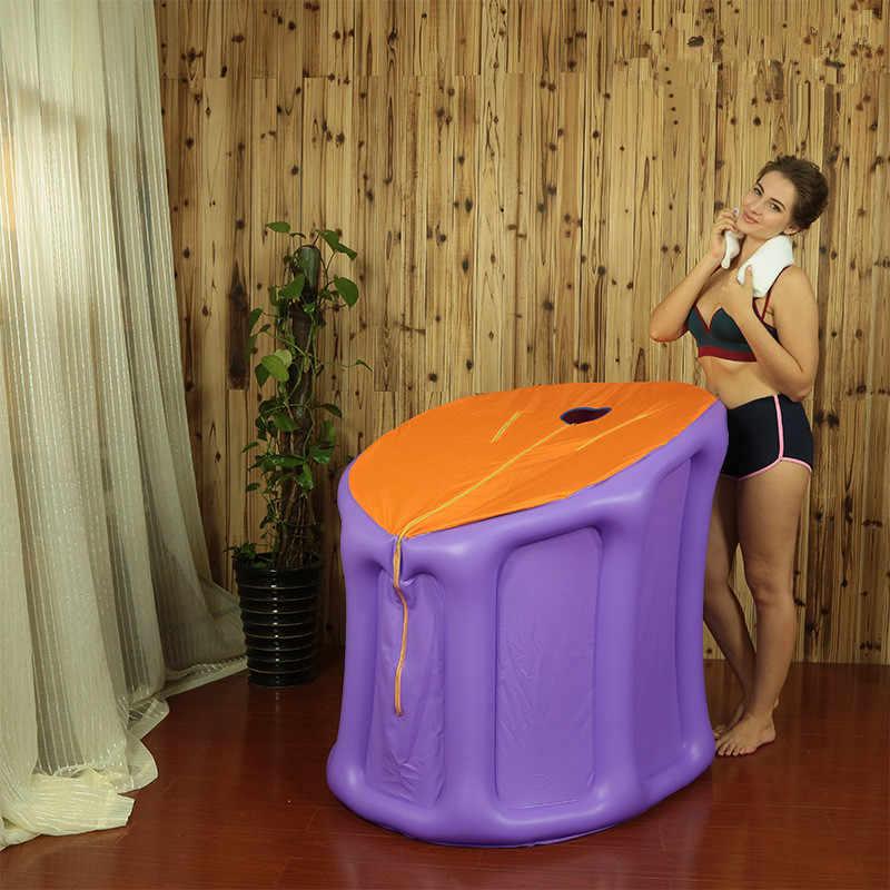 Opblaasbare Stoomsauna Kamer Opblaasbare Tent Met 2L 1000W Stoomboot Familie Draagbare Natte Sauna Ontspannen Sauna Zweet En Ontgiften