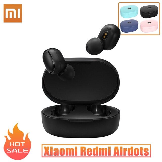 Orijinal Xiaomi Redmi Airdots TWS kablosuz kulaklık Bluetooth 5.0 kulaklık Mic ses kontrolü ile dokunun kontrol gürültü Reductio