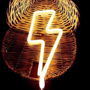 Image 3 - Neon Zeichen Batterie/USB Betrieben Wolken Blitz Neon Lichter für Weihnachten kinder Zimmer Party Urlaub Geschenk Schlafzimmer Shop decor