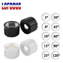 Lot de 10 lentilles PMMA haute puissance avec support, lentilles 1W 3W 5 W LED, 5 8 15 25 30 45 60 90 120 degrés pour perles lumineuses de 1 3 5 watts