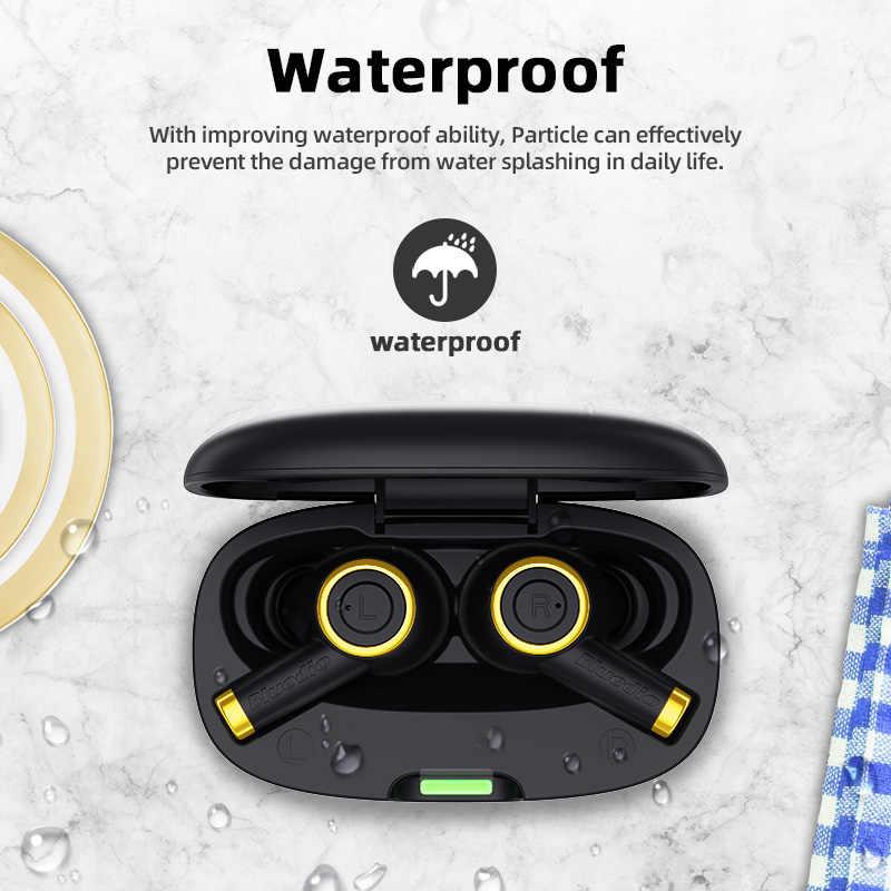 業bluedio粒子ワイヤレスイヤホンbluetooth 5.0 防水イヤフォンワイヤレススポーツtws充電でボックス