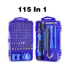 115 In 1 Multifunctiona Screwdriver Set Phone Clock Repair Tool Kit Magnetic Hex Torx Precision Screwdriver Bits Hand Tools
