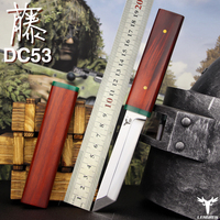 LENGREN DC53 Steel Blade Japanese Knife,60 62hrc vacuum heat treatment sharp camping hunting knife Samurai sword