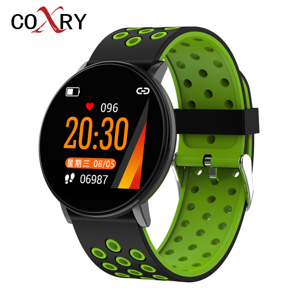 COXRY Colorful Sport Smart Watch Men Heart Rate Monitor Fitness Tracker Wrist Watch Blood Pressure Waterproof Woman Smartwatch