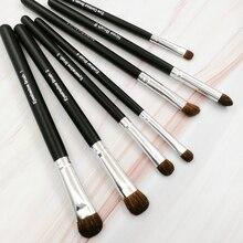 Makeup Brushes 7 PCS Brush Set Eyeshadow Nose Eyeliner Contour Angled Eye Pony Hair Professional Beauty Tools Kit