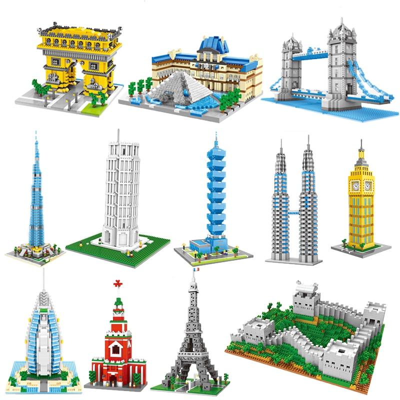 สถาปัตยกรรมลอนดอน Big Ben Arc de Triomphe Paris Taj Mahal Legoed อาคารบล็อกชุด DIY การศึกษาคริสต์มาสของขวัญของเล่น-ใน ชุดการสร้างโมเดล จาก ของเล่นและงานอดิเรก บน AliExpress - 11.11_สิบเอ็ด สิบเอ็ดวันคนโสด 1