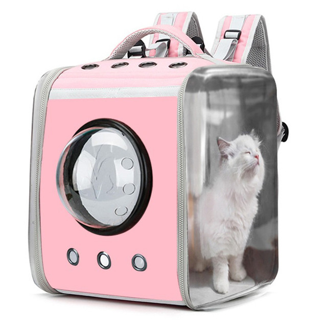 Cat Carrier Backpack Breathable Pet Travel Kennel 1
