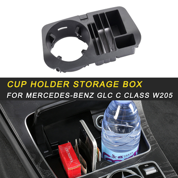 For Mercedes Benz C Class W205 2016-2019 Car Styling Central Cup Holder Storage Organizing Box Case Interior Accessory