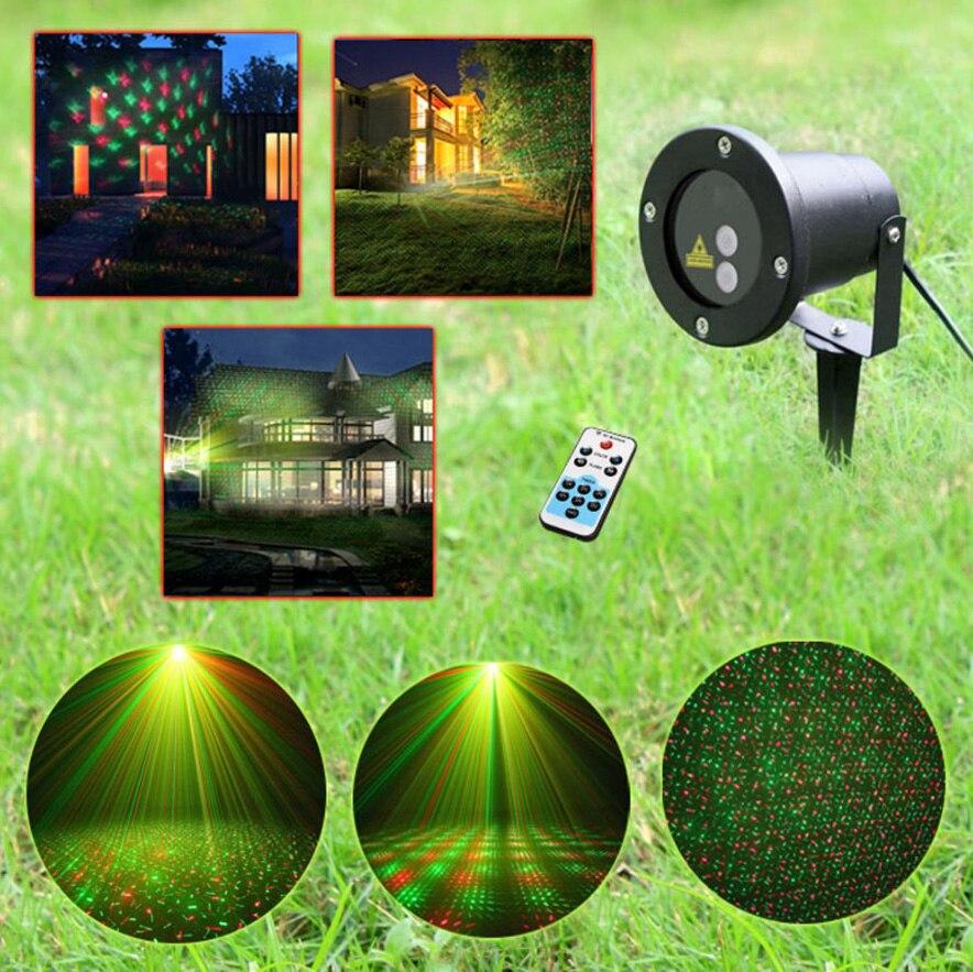 Işıklar ve Aydınlatma'ten Sahne Aydınlatması Efekti'de Su geçirmez açık bahçe projektör R & G yıldız lazer noel işık w/uzaktan u title=