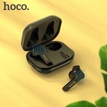 HOCO auriculares TWS inalámbricos con Bluetooth 5,0, dispositivo de audio estéreo 3D para videojuegos y deporte, con Control táctil inteligente