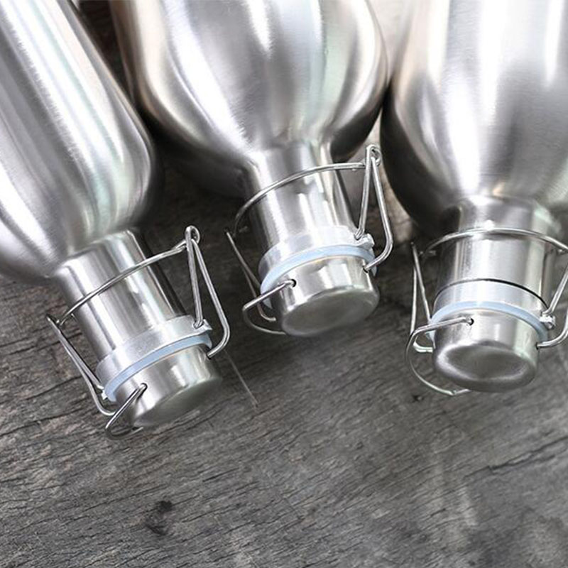 Image 5 - Premium 2L Stainless Steel Homebrew Beer Growler Secure Swing Top Lid Big Capacity beer bottles for outdoor-in Water Bottles from Home & Garden