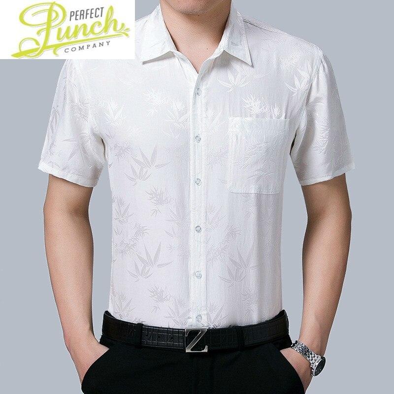 New Summer 100% 2021 Silk Dress White Short Sleeve Shirt Formal Shirts for Men High Quality Gentlemen Camisas KJ1961