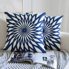 45x45cm Nordic Style Embroidered Cushion Set Classical Square Pillowcase Living Room Sofa Decoration Cushion Bedding  Pillowcase