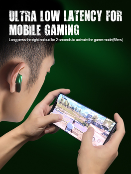Zime Winner Gaming Earbuds 65ms Low Latency TWS Bluetooth Earphone with Mic Bass Audio Sound Positioning PUBG Wireless Headset 2