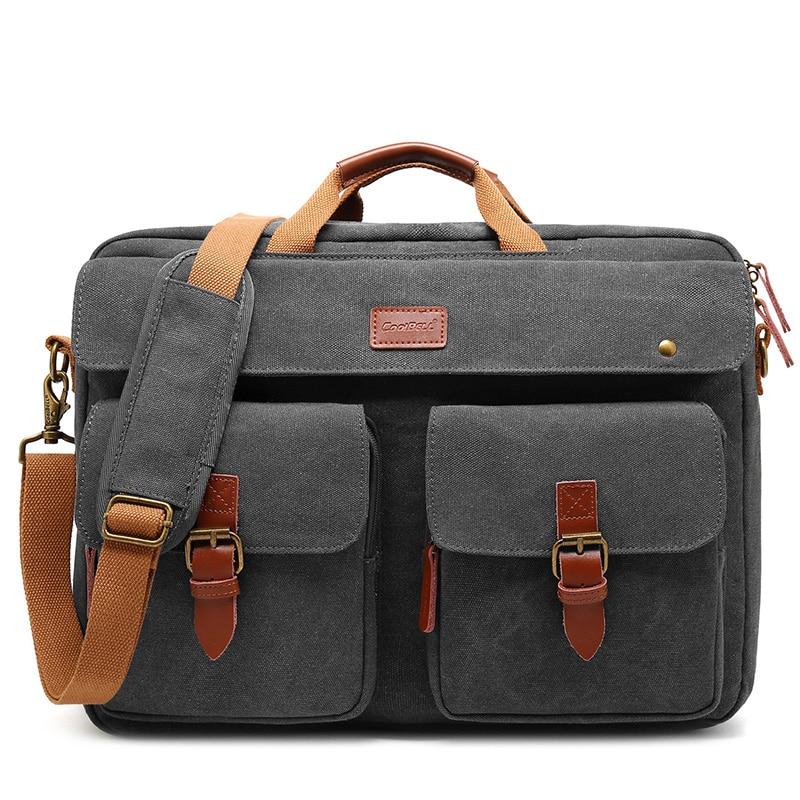 Männer Cabrio Schulter Laptop Tasche Business Aktentasche Multifunktionale Reise Rucksack Passt 17 Zoll Computer Hand Taschen XA307ZC