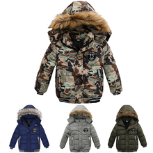 Winter Warm Outerwear Coat Cotton Jackets Park Baby Boys Children's Coats Clothes For Boys Winter Coat Kids Hooded 2 5 6 9 Year недорого