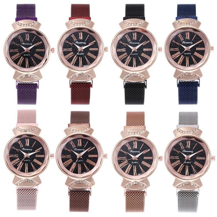 With Series Bracelet Watch Beautiful Starry Sky Design Diamond-encrusted Bracelet Watch Joker Fashion Watches