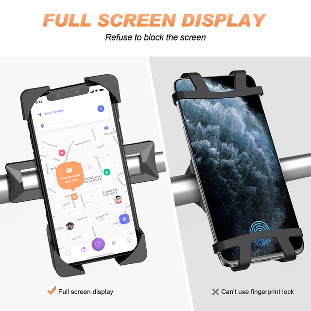 Bike Phone Holder Universal Motorcycle Bicycle Phone Holder Handlebar Stand Mount Bracket Mount Phone Holder For iPhone Samsung 6