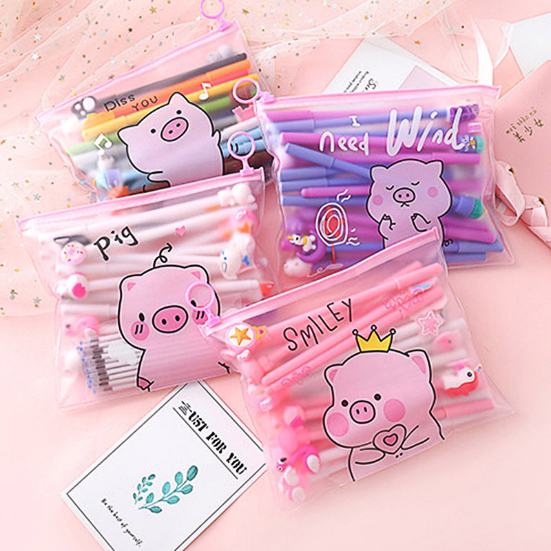 10 Pcs  Kawaii Unicorn Pen Cute Cartoon Gel Pen With 20 Pcs 0.5mm Refills For Kids Girls Gifts School Stationery Set