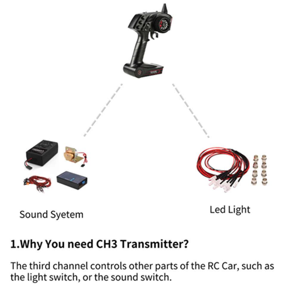 オリジナル高品質 GoolRC TG3 2.4 グラム 3CH RC 送信機デジタルラジオリモコン送信機と受信機の Rc カーボート
