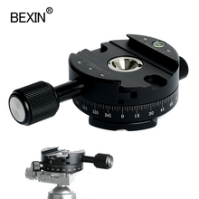 360 Degree Rotating Panoramic Tripod Head Mounting Quick Release plate Clamp With 1/4 screw for Arca Swiss Clamp Tripod camera