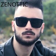 ZENOTTIC, квадратные солнцезащитные очки для мужчин, поляризационные, UV400, модные солнцезащитные очки, зеркальные, спортивные, защита от солнца, очки для вождения, oculos