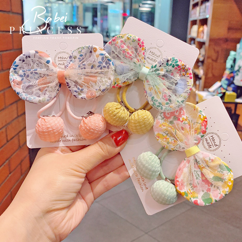European and American Infant Hair Accessories Hipster Floral Baby Hair Clip 3-Piece Set Girl's Hair Accessories Headdress