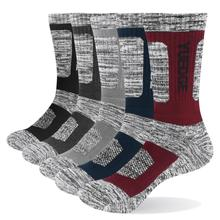 YUEDGE 5 pairs mens brand cotton breathable comfortable casual business warm thick socks mens crew socks dress socks