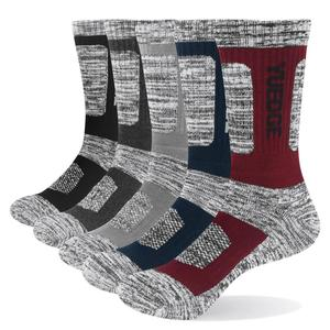 Image 1 - YUEDGE 5 pairs mens brand cotton breathable comfortable casual business warm thick socks mens crew socks dress socks