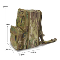 Delustered 8L Flatpack Hydration Pack Tactical Expandable Backpack Molle Bug Out Bag Outdoor Army Rucksack Hike Camp TW HP005