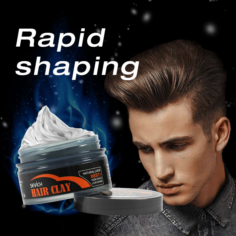 Sevich 100g Hair Clay Long-lasting Cream for Men Strong Modeling Hold Low Shine Styling Wax 2 Color